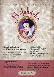 Hófehérke balett előadás plakátja