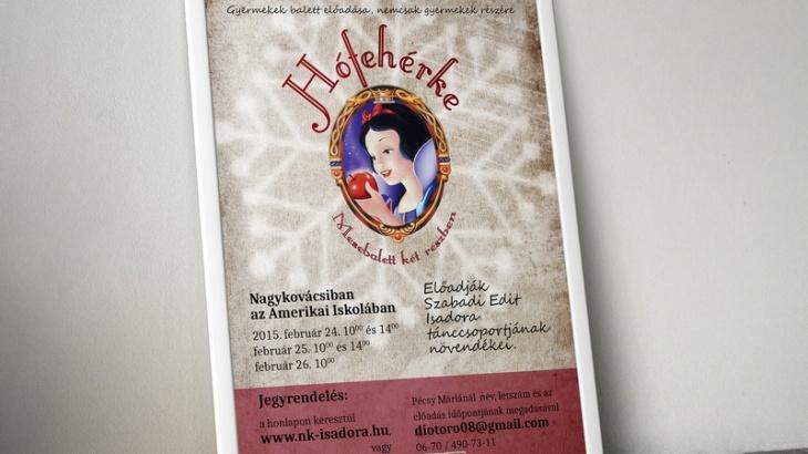 Hófehérke balett előadás plakátja keretben