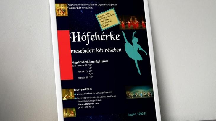 Hófehérke balett előadás plakátja 2.