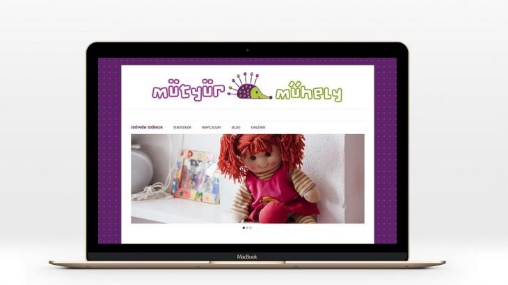 Mütyür Műhely weboldala