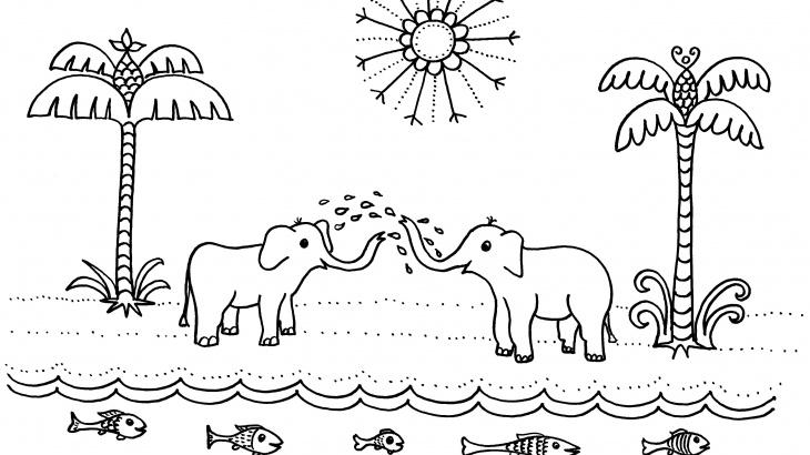 elefántos kiszínező