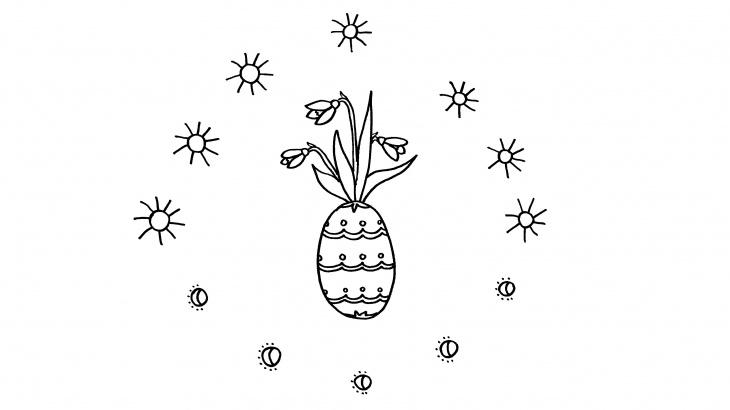 hóvirágos tojásos kiszínező