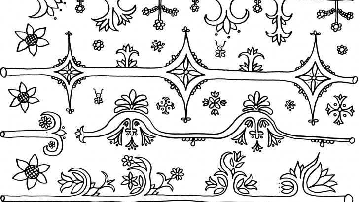 virágos minta kiszínező