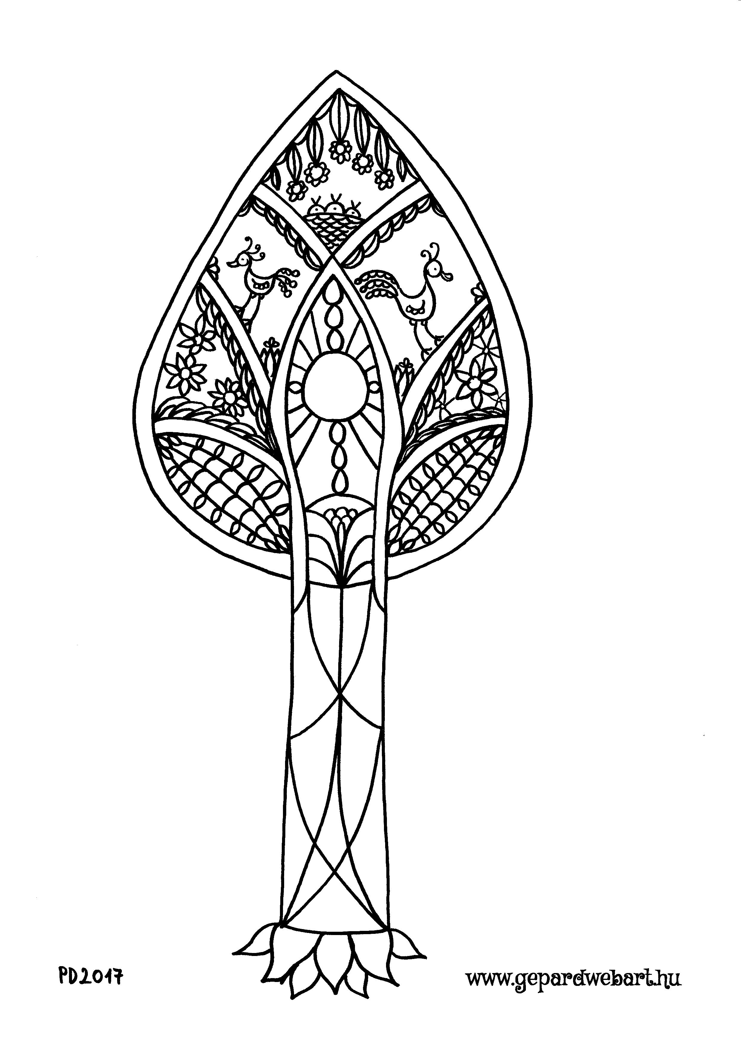 fa kiszínező