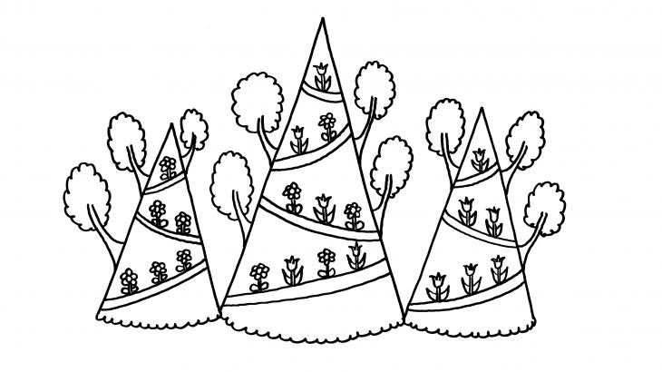hegyek kiszínező