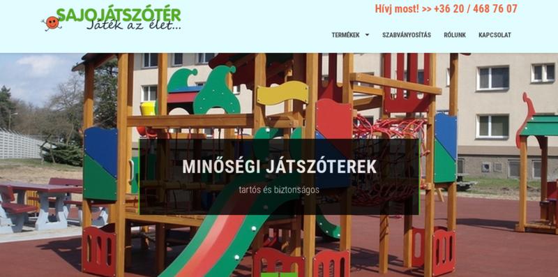 S'AJO Játszótér honlapja